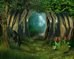 """Фон """"Таинственный лес"""""""
