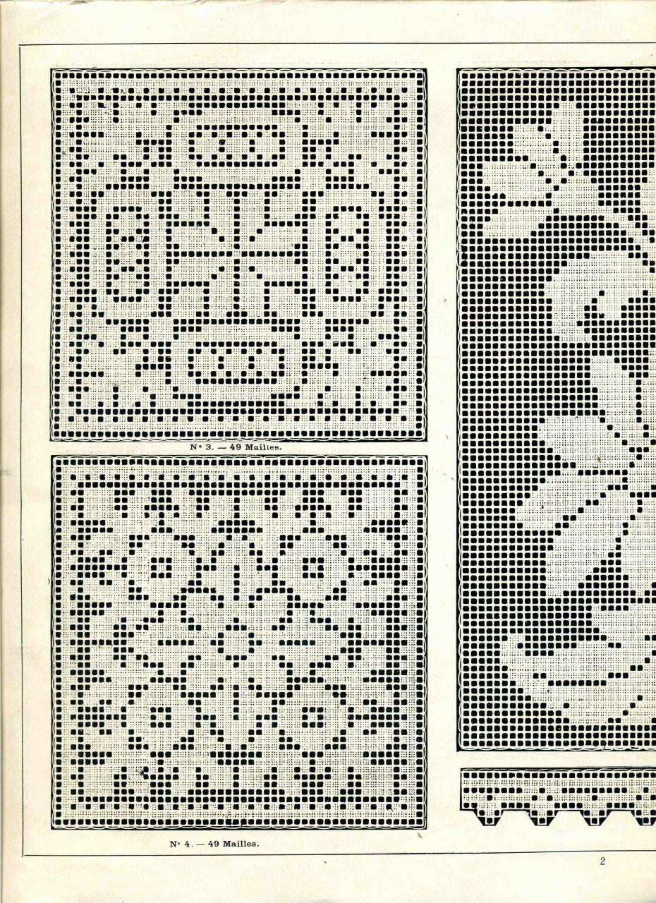 Фото схем филейного вязания 239