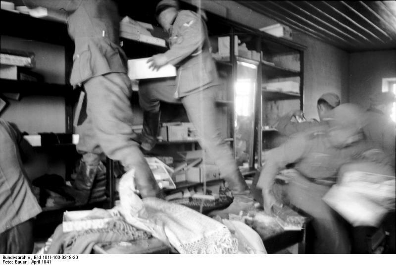 Griechenland, deutsche Soldaten in Geschдft