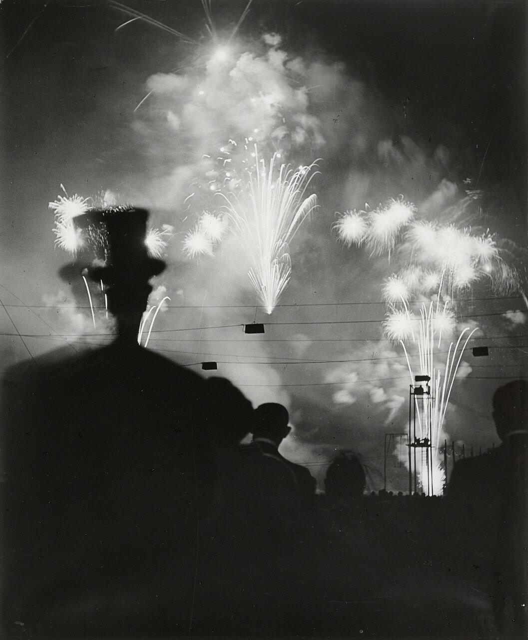 1936. Ночной фейерверк в Лошане