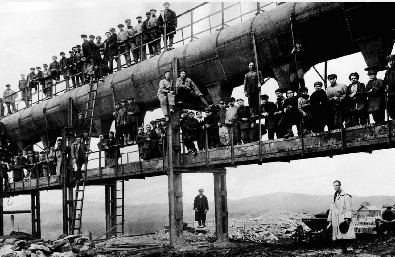 Сатка. Завод «Магнезит» 1945