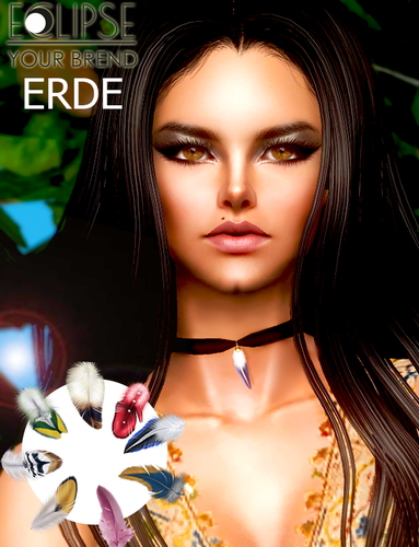 Feather choker necklace by Erde