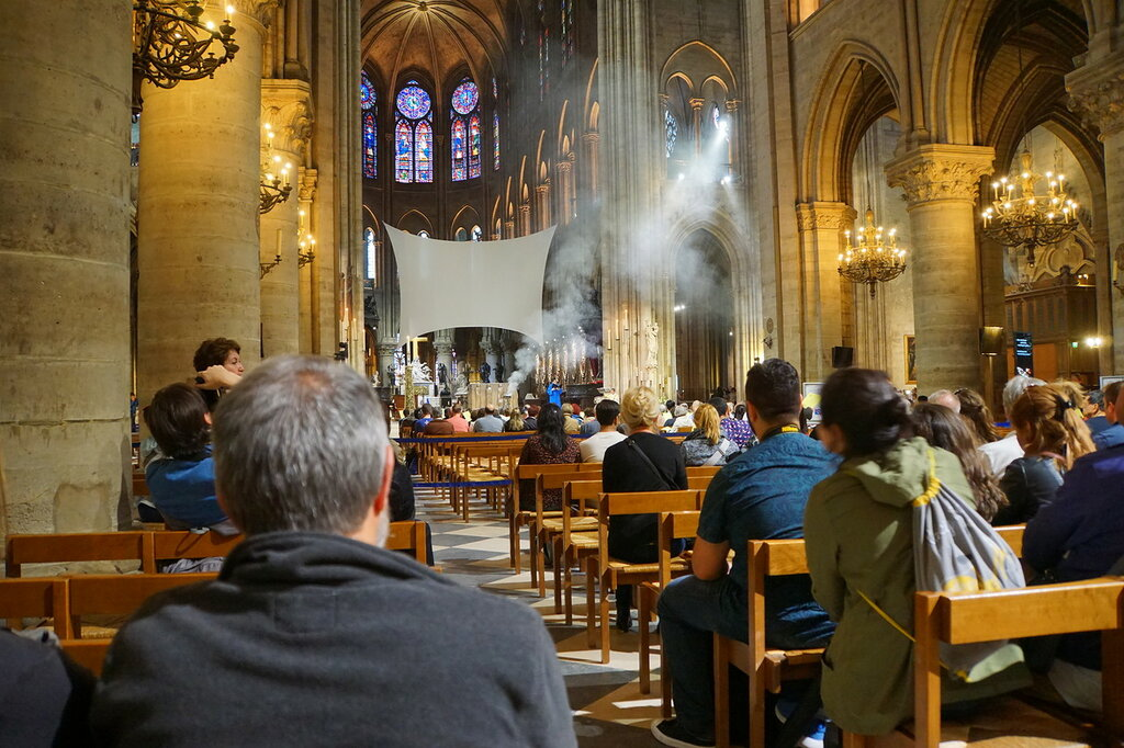 В соборе Нотр-Дам де Пари
