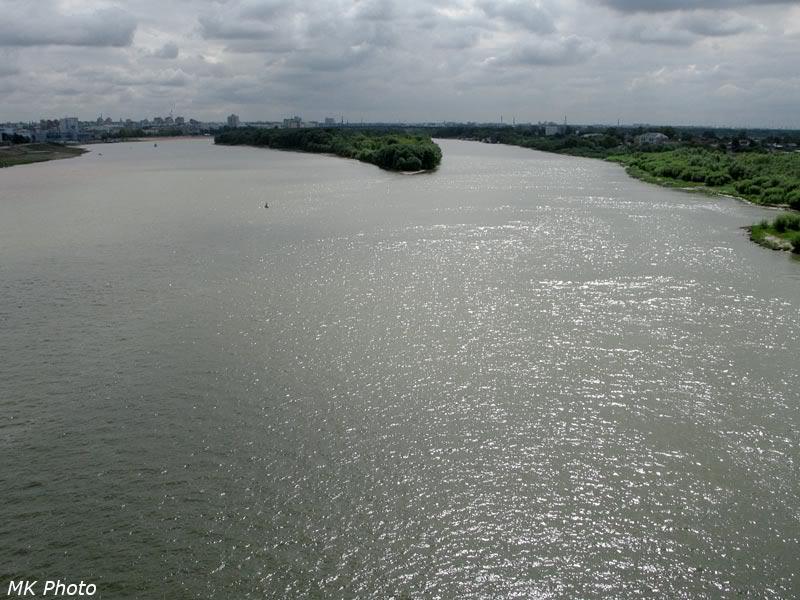 Вид на Иртыш с моста