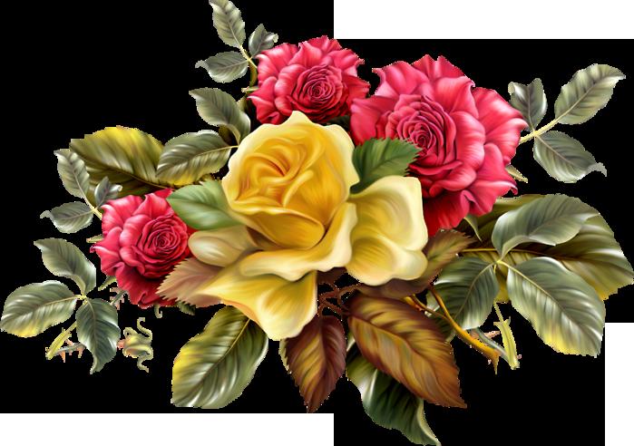 Клипарт букеты роз — img 15