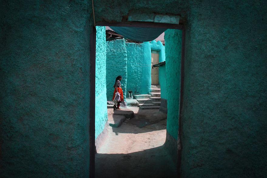 Голубые стены Харэра, Эфиопия.