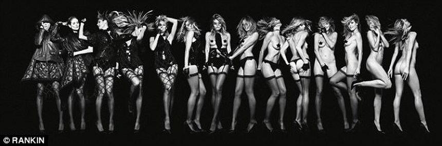 44-летняя модель Хайди Клум полностью обнажилась для откровенной фотосессии (10 фото)