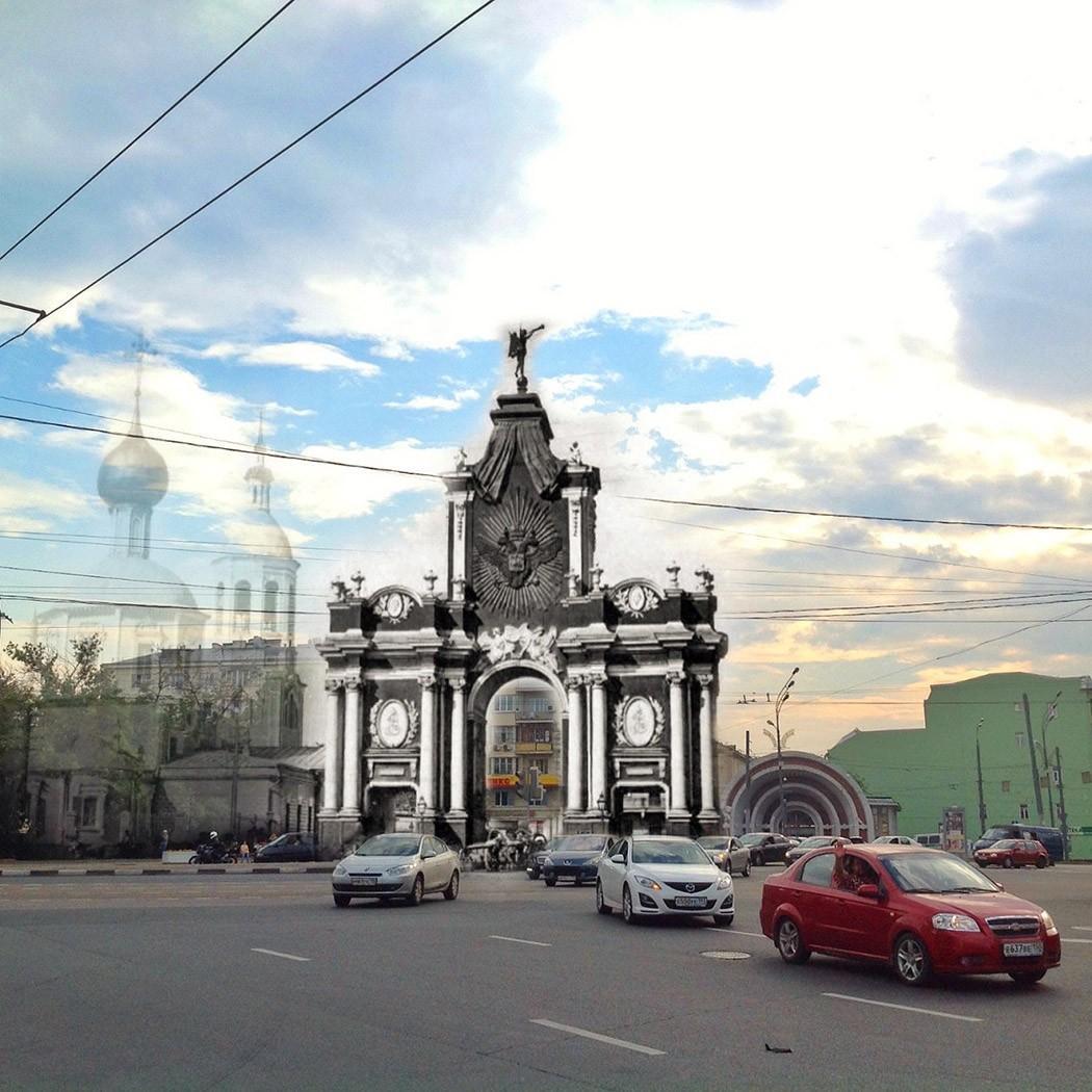 13. Красные ворота. Для москвичей в первую очередь это название станции метро. Особенно узнаваем наз