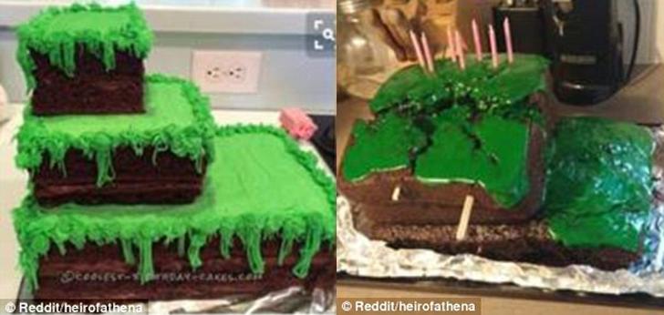 Похоже, торт, вдохновленный игрой Minecraft, объявил своему автору войну.
