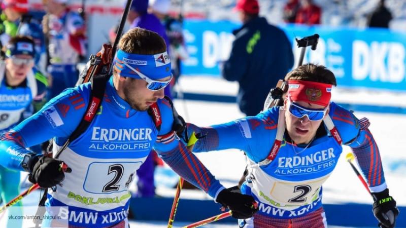 БиатлонистыРФ впервый раз за9 лет выиграли медаль смешанной эстафеты наЧМ