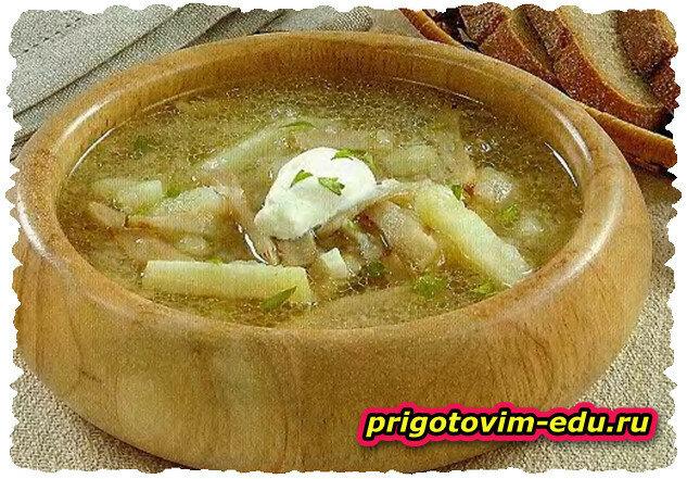 Простенький суп Груздянка