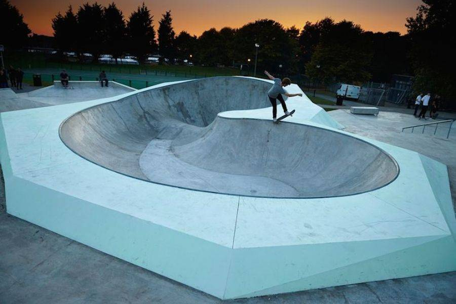 Phosphorescent Skatepark in Liverpool