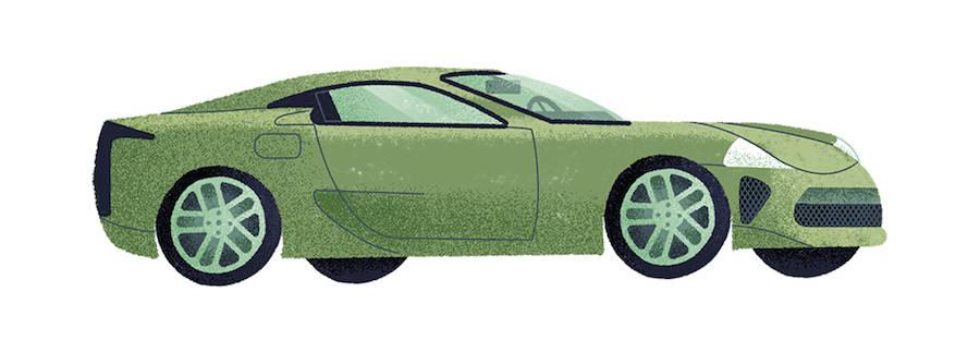 Stylish Illustrations of Classic Automobiles by Studio MUTI