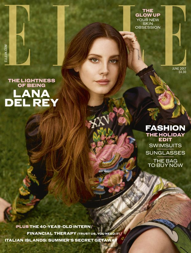 Lana Del Rey Stars in the Cover Story of Elle UK June 2017 Issue