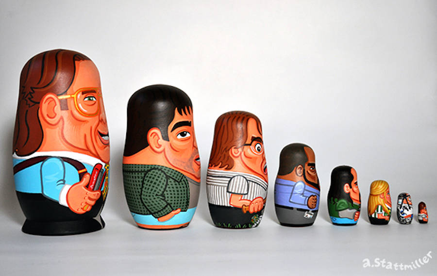Iconic Movies and TV Shows Characters Nesting Dolls