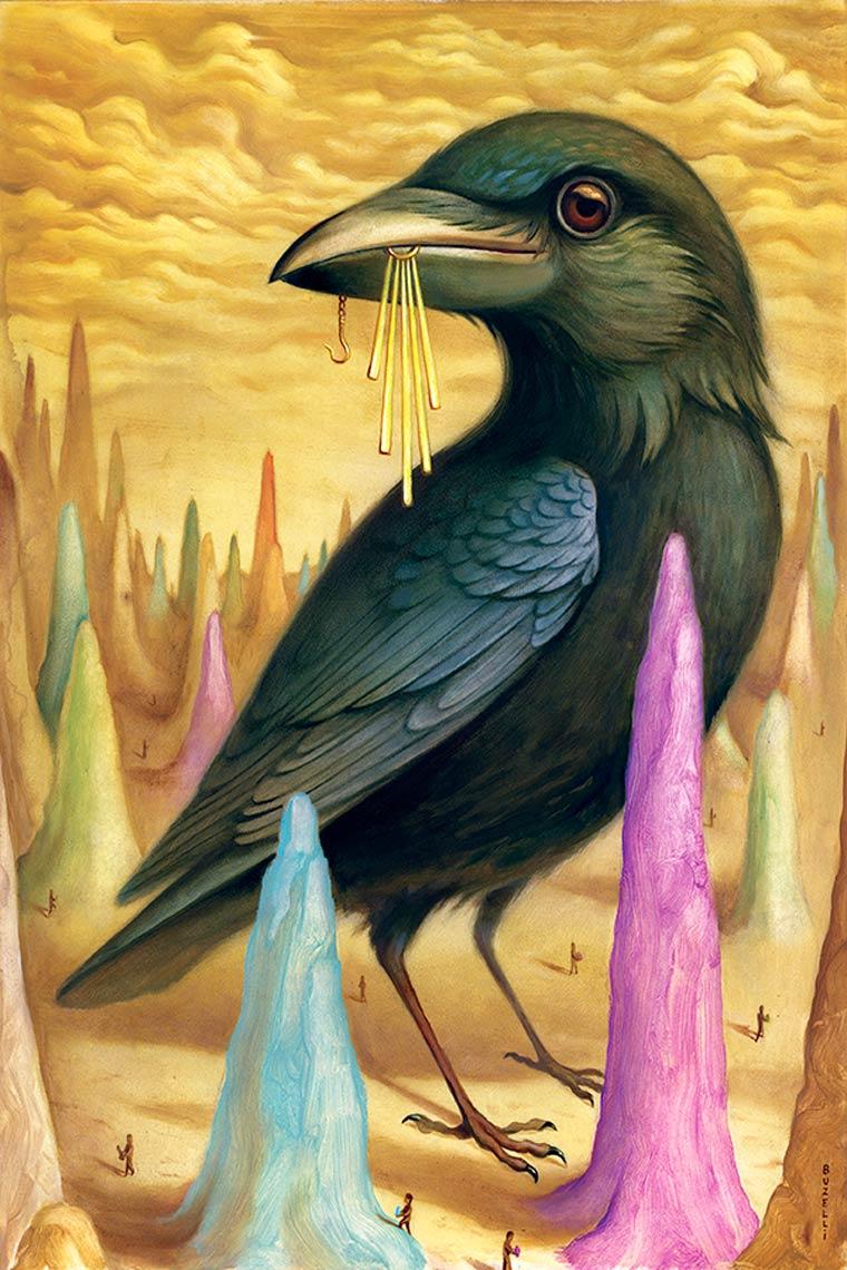 Les peintures oniriques de Chris Buzelli