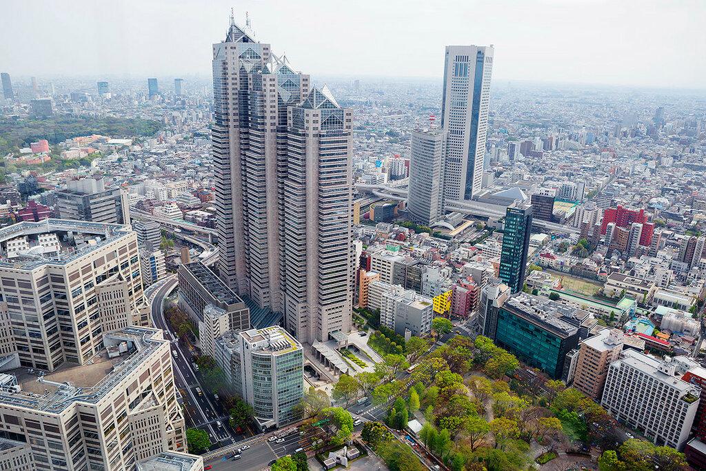 Токио с высоты птичьего полёта