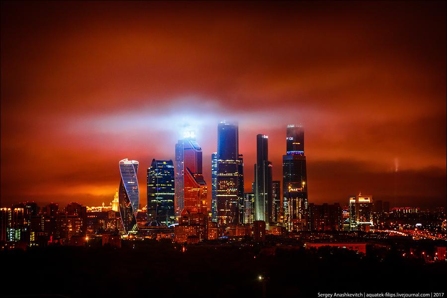 Небо над Москвой 8 мая