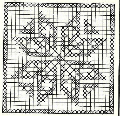 Филейное вязание крючком наволочки для подушек схемы 78