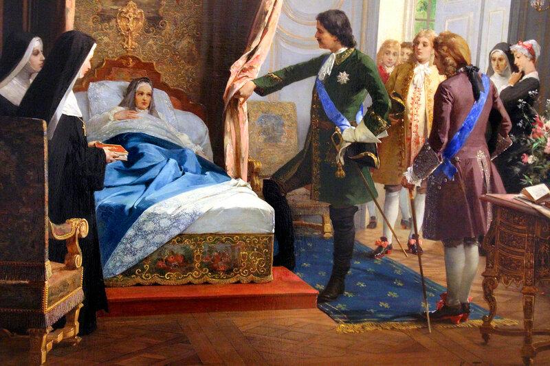К.Н. Горский картина холст, масло. 1854 г.-1916г.Петр I посещает госпожу Ментенон в 1717 году 1887 год