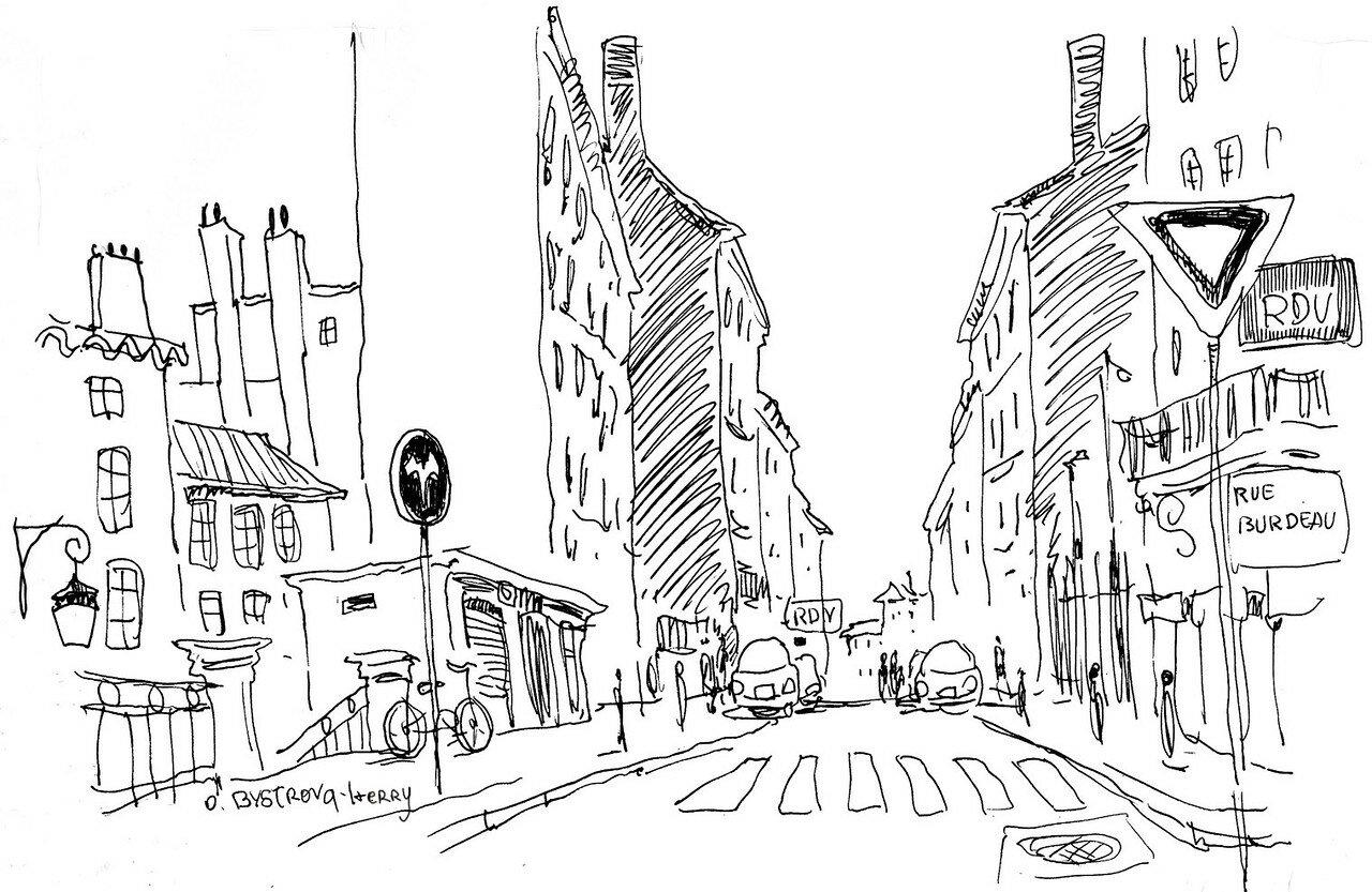 Lyon. Rue Burdeau 1