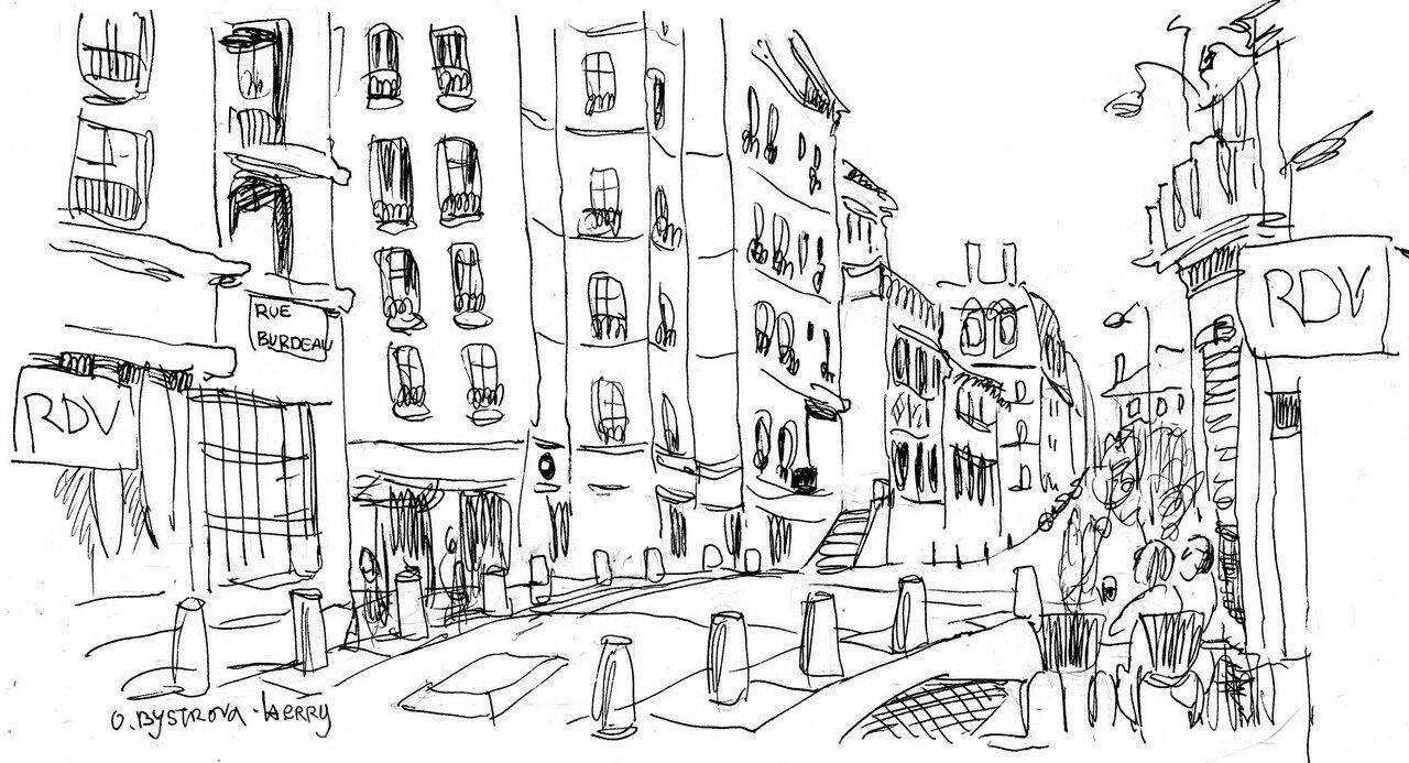 Lyon. Rue Burdeau 3