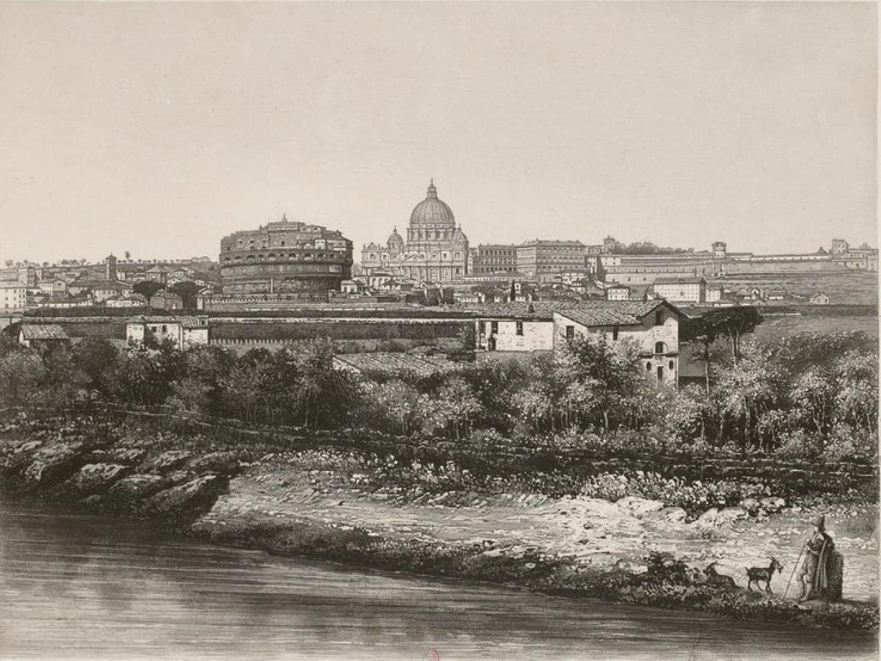 Италия. Рим. Собор св. Петра и Замок Святого Ангела