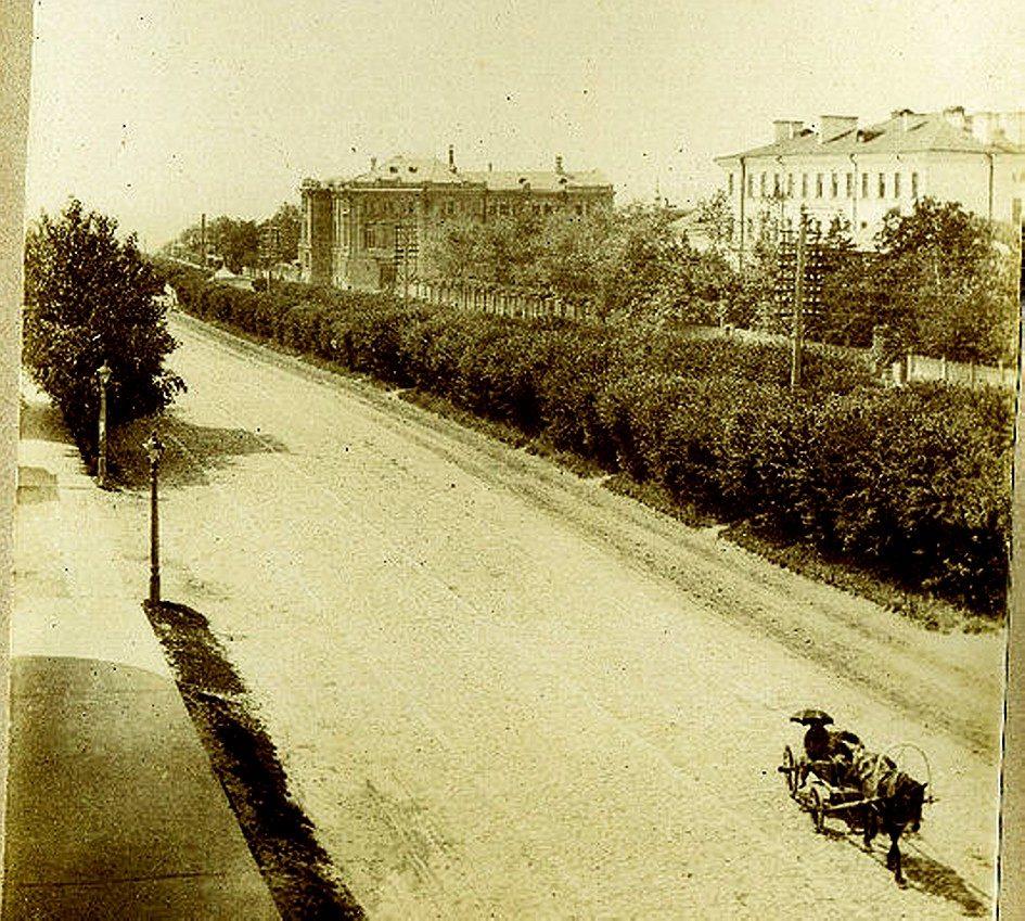 Мариинская гимназия (справа) и Земская управа