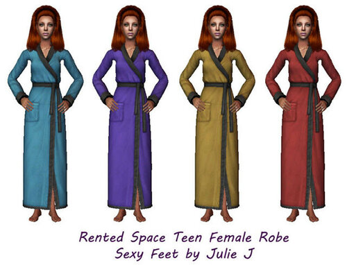 Rented Space Female Robes AF&TF – Sexy Feet by Julie J