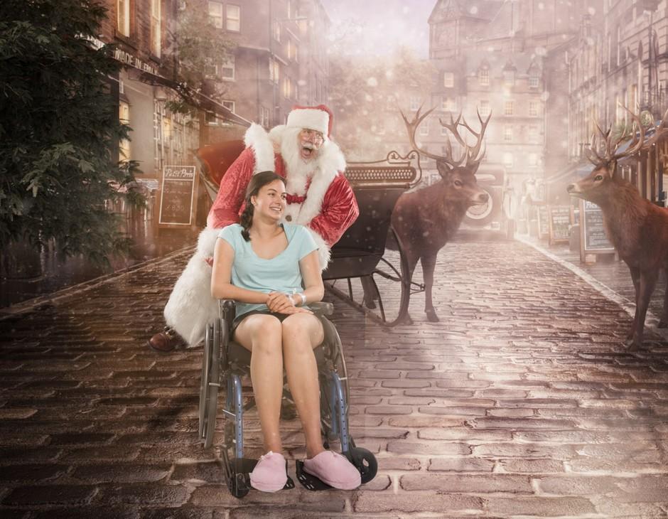 Фотограф превращает снимки больных детей волшебные фото с Сантой-Клаусом