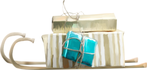 санки с подарками