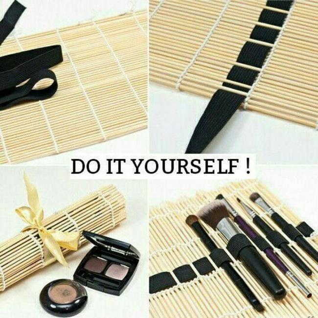 © be-ba-bu  Чтобы быстро иэффективно очистить кисточки для макияжа, смешайте оливковое или ми