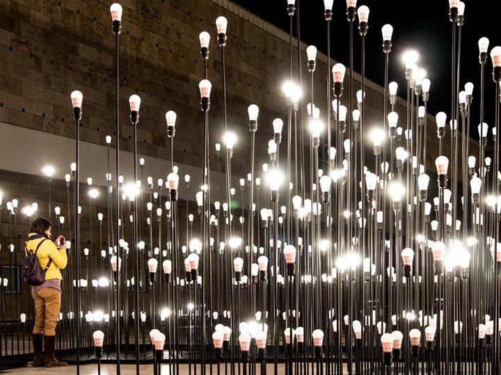 Инсталляция из лампочек в Португалии