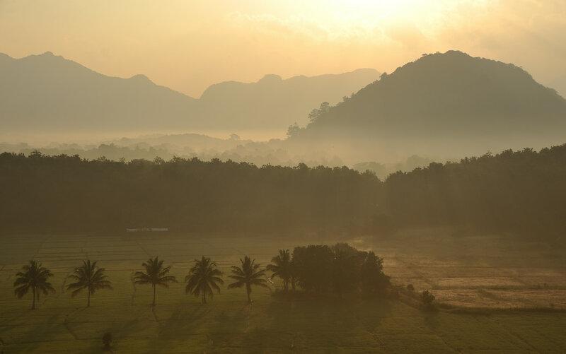 Полёт на воздушном шаре над Шри Ланкой. Рассвет и приземление