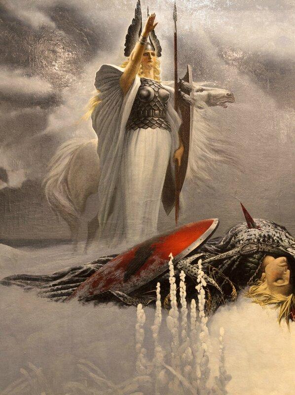 Валькирия над сражённым воином, Константин Васильев