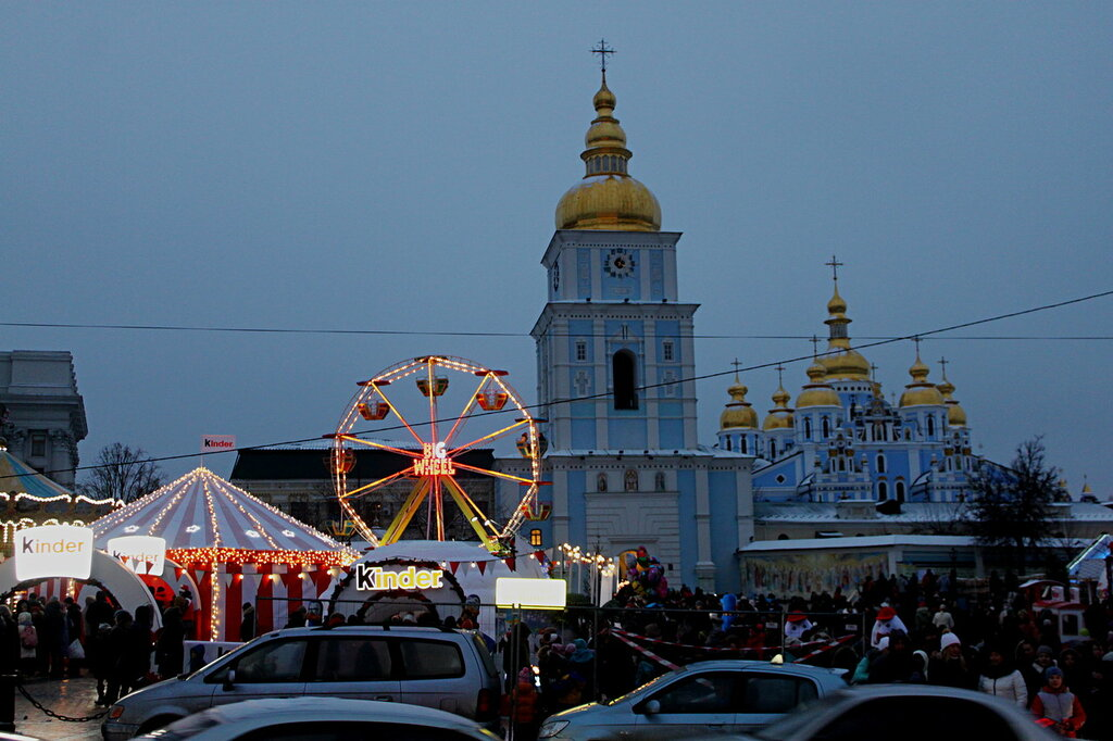 Новогодняя Михайловская площадь
