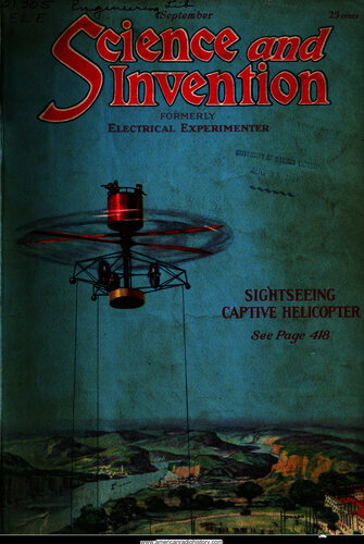 Science & Invention: 1921 September - - Book Cover