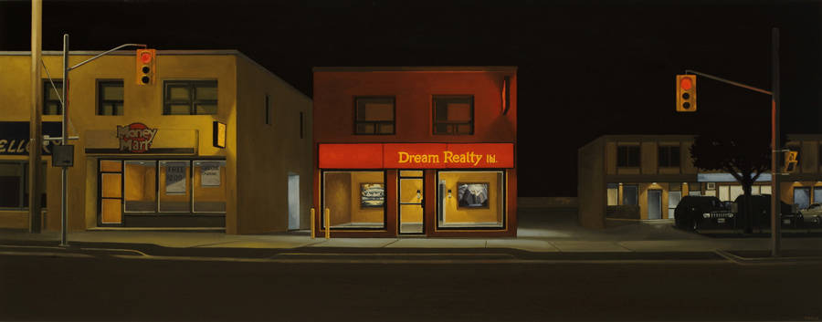 Hopper-Like Paintings of Buildings Entrances