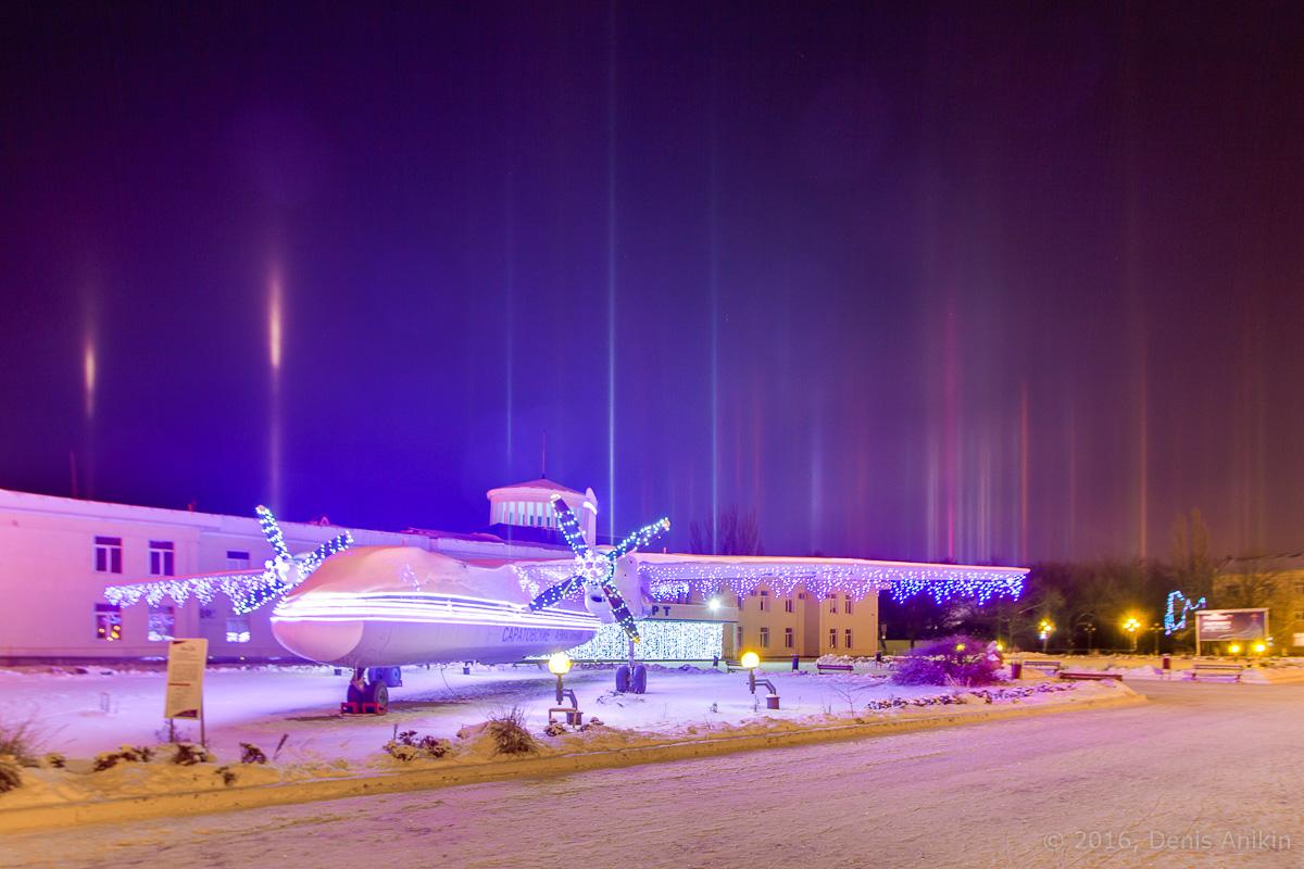 Световые столбы Саратов фото 3