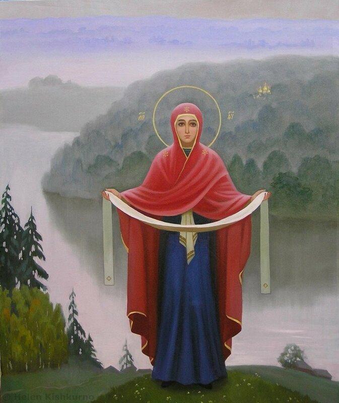 Покров Божией Матери в изображении художников