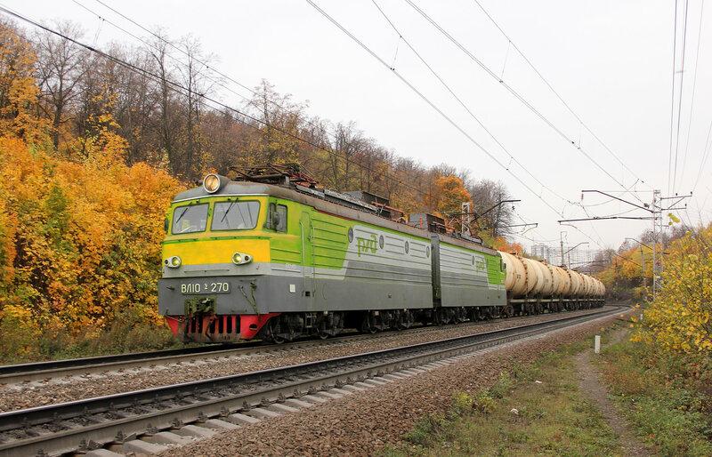 ВЛ10У-270 на перегоне Уфа - Черниковка, перекрашен в ФШ