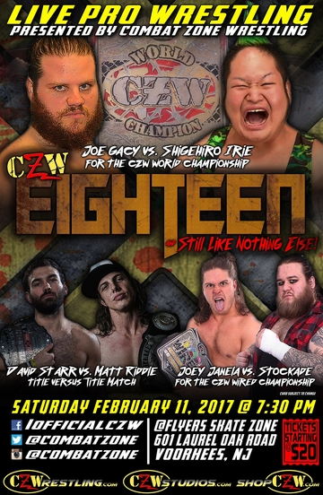 Post image of CZW Eighteen And Still Like Nothing Else!