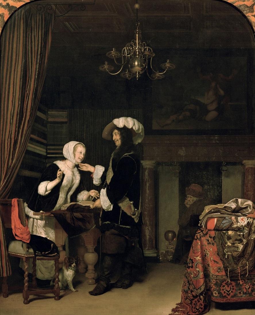 Frans van Mieris the Elder (1635-1681) - Магазин тканей