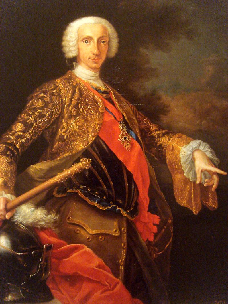 Джузеппе Бонито Шарль де Бурбон (Карл VII) во время правления Неаполем 1746