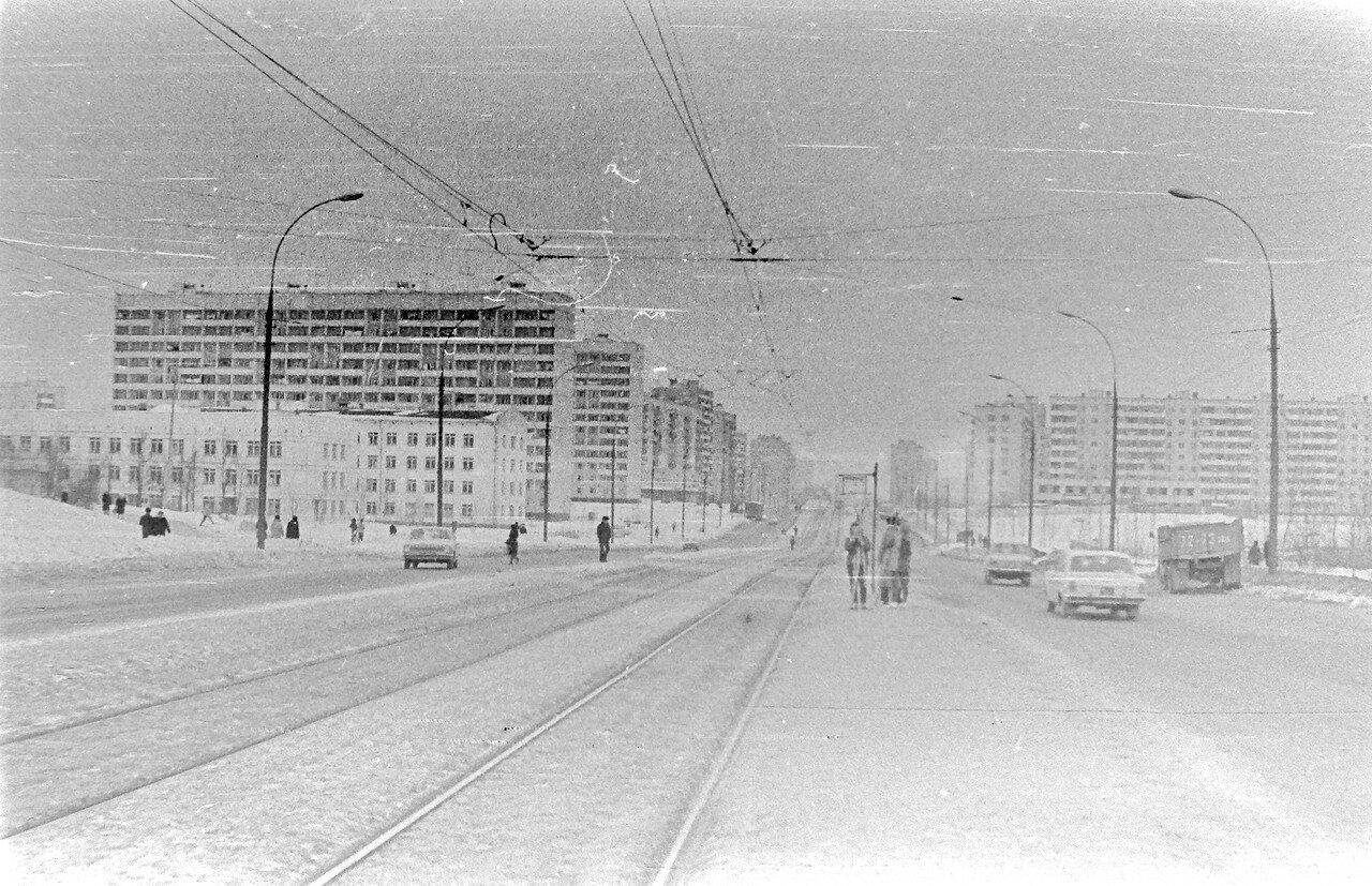 1979. Вид на улицу Чертановская