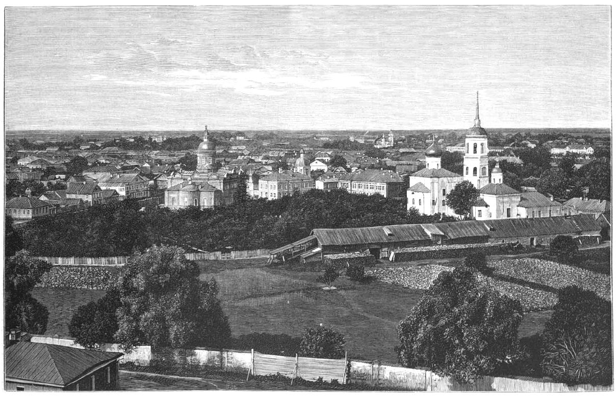 Спасо-Преображенский монастырь. Общий вид монастыря с восточной стороны.1892