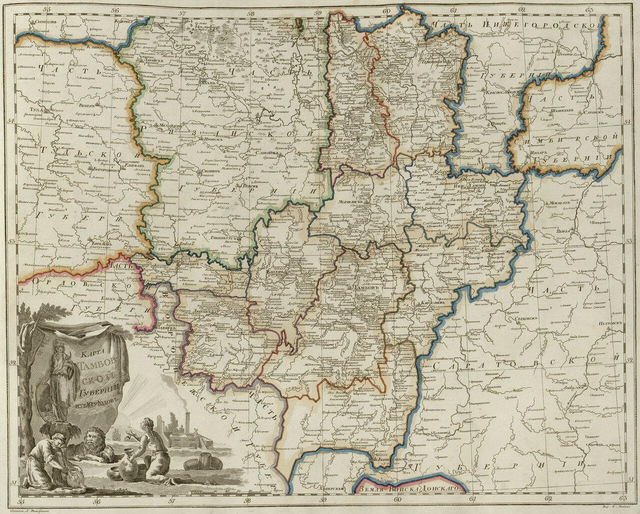 30. Карта Тамбовской губернии