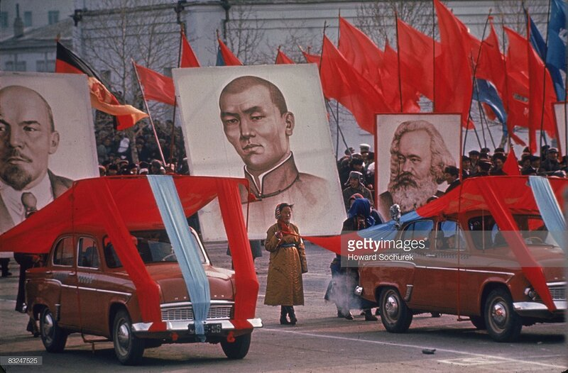 View of celebrations in rememberance of Russia's October Revolution, Ulaanbaatar, Mongolia, November 7, 1961.jpg