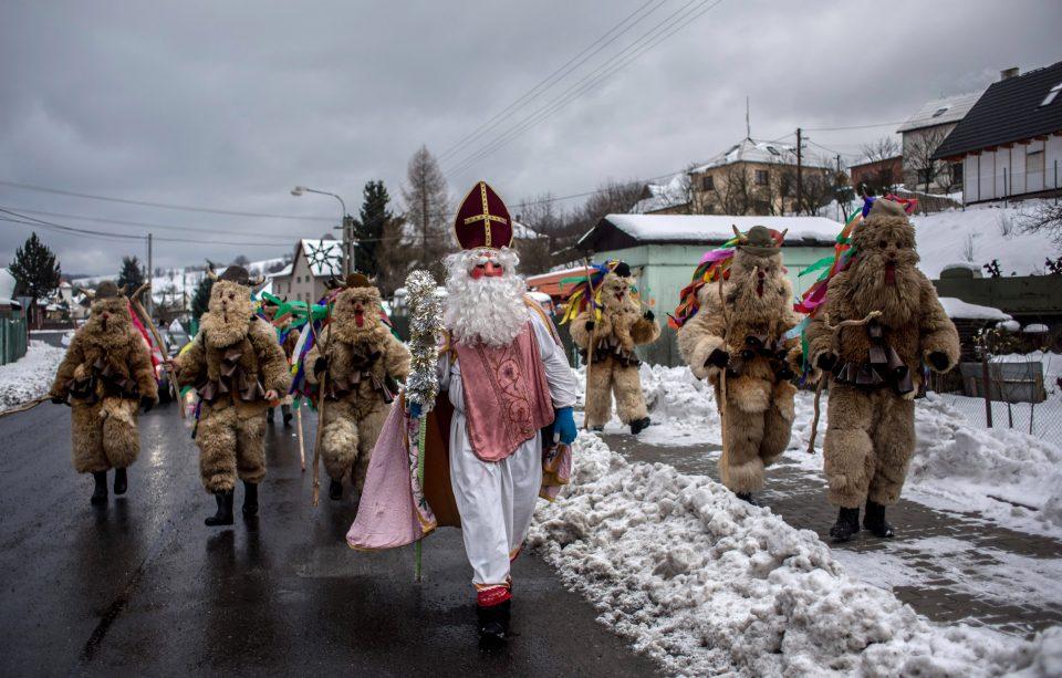 Рождественский парад в Чехии