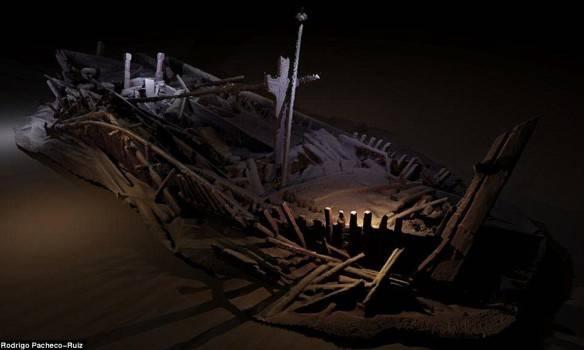 Уникальная находка: Кладбище древних кораблей обнаружены на дне Черного моря (фото)
